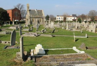 Highland Road Cemetery, showing grave of Ellen Ternan, Southsea