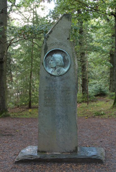 John Ruskin Memorial, Friars Crag, Derwentwater, Keswick
