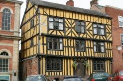 Medieval building in Broad Street, Ludlow