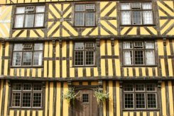 Medieval building in Broad Street, Ludlow