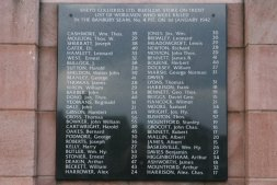 Memorial - pit disaster, 1st January 1942. Burslem, Stoke-on-Trent