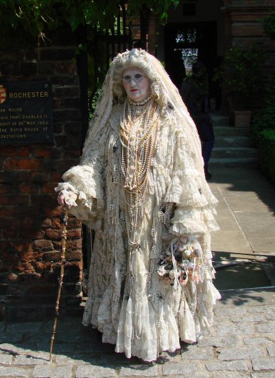 Miss Havisham, Great Expectations. Charles Dickens' Festival, Rochester