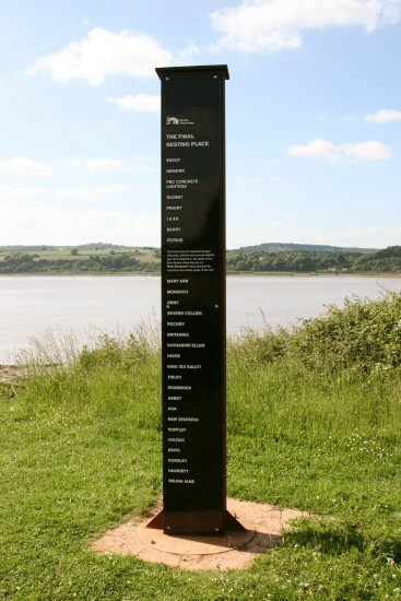 Monument to the Purton Hulks, River Severn. Erected by British Waterways 2008