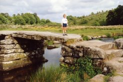 My son, Clapper Bridge, Postbridge, Dartmoor