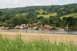 Boatyard, Newnham, River Severn Estuary, from Arlingham