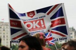 OK! Magazine, Union Jack flag, Queen's Diamond Jubilee, Thames Pageant