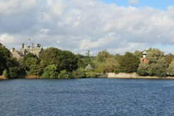 Palace House, from Mill Pond, Beaulieu, New Forest