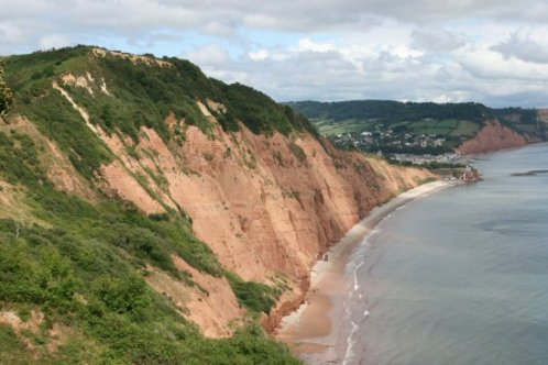 Peak Hill and Jacob's Ladder Beach, from High Peak Cliff, Sidmouth