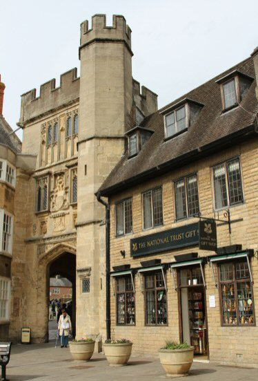 Penniless Porch and National Trust Gift Shop, Wells