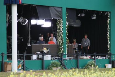 Phillip Schofield and Julie Etchingham, Media Centre. Royal Wedding, Prince William and Kate, 29th April 2011
