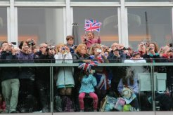 Photographers on the Terrace, Royal Festival Hall, Queen's Diamond Jubilee, Thames Pageant