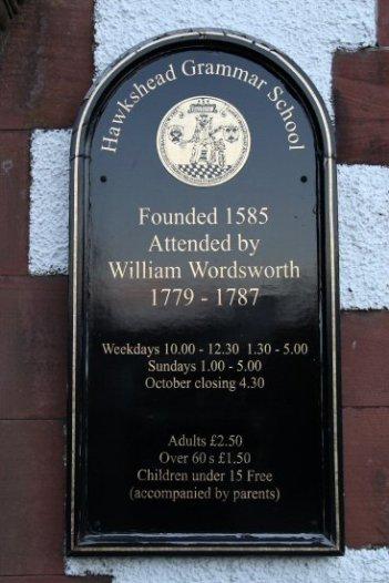 Plaque, The Old Grammar School, Hawkshead