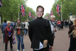 Prince William, The Mall. Royal Wedding, 29th April 2011