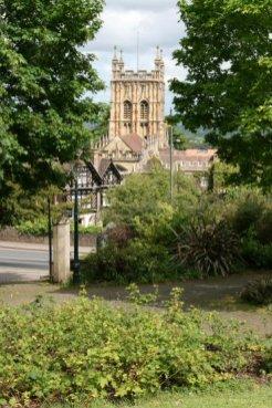 Priory Church, from Rose Bank Gardens, Great Malvern