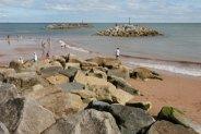 Rock Island sea defences, beach, Sidmouth