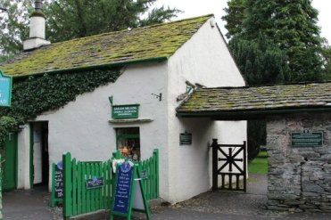 Sarah Nelson's Grasmere Gingerbread Shop and entrance to St. Oswald's Churchyard, Grasmere