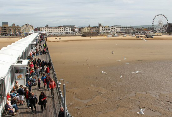 Seafront, from balcony, Grand Pier, Weston-super-Mare