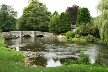 Sheepwash Bridge, over River Wye, Ashford in the Water