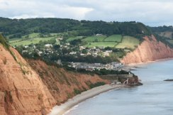 Sidmouth, from High Peak Cliff, Sidmouth