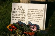 Conductor, Sir Thomas Beecham's grave, St. Peter's Churchyard, Limpsfield