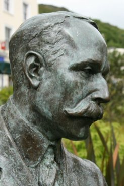Life-size bronze statue of Sir Edward Elgar, by Rose Garrard, Great Malvern