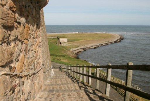 Steps to Lindisfarne Castle, Holy Island