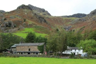 Sticklebarn, Gimmer Crag and Pike of Stickle, Langdale Pikes, Great Langdale