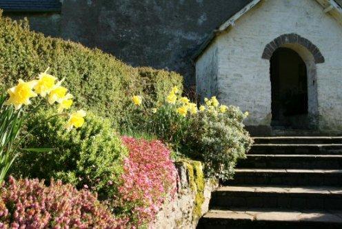 Entrance to St. Mary's Church, Oare, Exmoor (Lorna Doone Country)