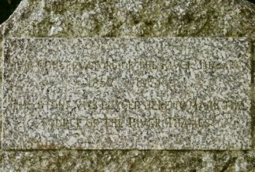 Inscription on stone, Thames Head, marking source of River Thames, near Kemble