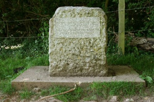 Stone, Thames Head, marking source of River Thames, near Kemble