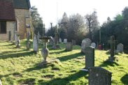 St. Peter's Churchyard, Limpsfield, showing Frederick Delius's grave