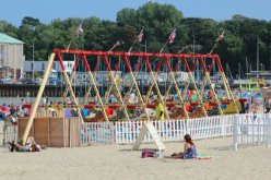 Swingboats, beach, Weymouth
