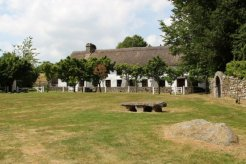 Thatched cottages, Village Green, Manaton