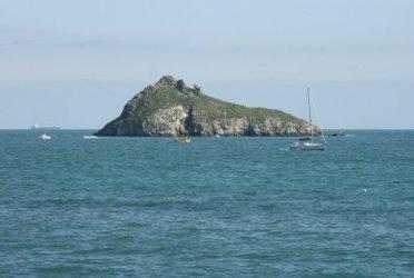 Thatcher Rock, from Meadfoot Beach, Tor Bay, Torquay