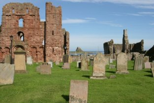 The Benedictine Priory and St. Mary's Churchyard, Holy Island, Lindisfarne