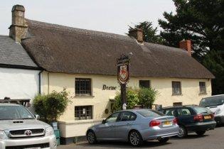 The Drewe Arms pub, Drewsteignton