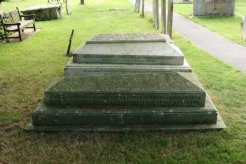 The graves of Thomas Hardy, his wives, his brothers and sisters and his parents. St. Michael's Churchyard, Stinsford