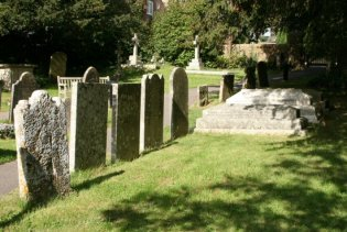 The Hardy family graves. St. Michael's Churchyard, Stinsford