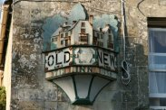 The Old New Inn plaque, Bourton-on-the-Water, Cotswolds