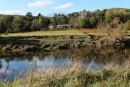 The Old Station, Tintern, from bank of River Wye, Brockweir