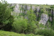 The Pinnacles, from north rim, Cheddar Gorge, Cheddar