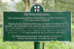The Wordsworth Graves sign, St. Oswald's Churchyard, Grasmere
