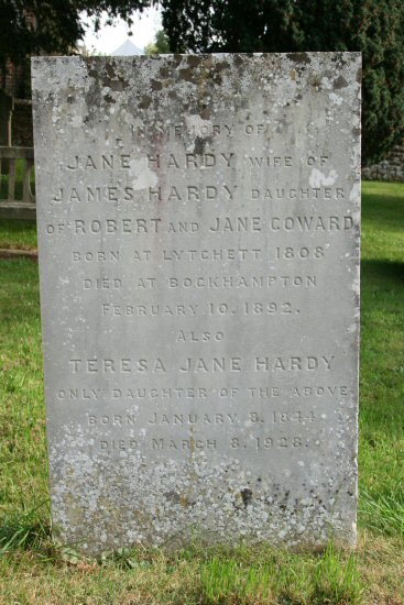 Thomas Hardy's aunt and cousin's grave. St. Michael's Churchyard, Stinsford