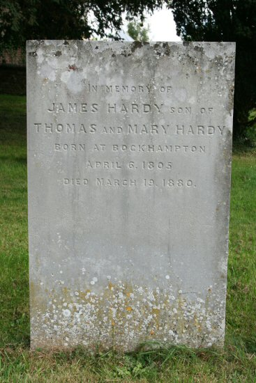 Thomas Hardy's uncle's grave. St. Michael's Churchyard, Stinsford