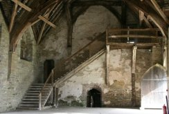 Timber staircase of the Hall, Stokesay Castle