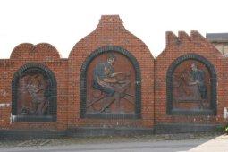Traditional Industries panel, Woodbank Street, Burslem, Stoke-on-Trent