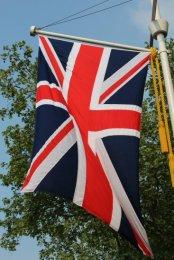 Union Jack flag, The Mall. Royal Wedding, Prince William and Kate, 29th April 2011