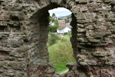 View from the Great Tower, Clun Castle, Clun