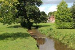 Village green and River Tillingbourne, Abinger Hammer
