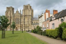 Wells Cathedral and cottages, Wells